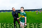 Tom O'Sullivan Kerry players and Selector Tommy Griffin after the Munster Senior Football Semi Final between Kerry and Clare at Ennis on Saturday night.