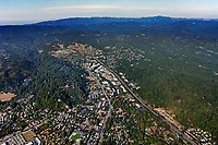 aerial photograph  Scotts Valley, Santa Cruz county, California
