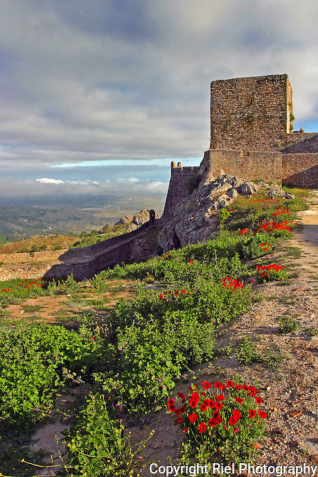 "Medieval walled village of Marvao Portugal also known as  ""eagle nest""."