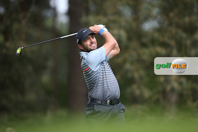 Francesco Molinari (ITA) drives to the 8th during Round Two of the 2015 BMW PGA Championship over the West Course at Wentworth, Virginia Water, London. 22/05/2015Picture David Lloyd, www.golffile.ie.