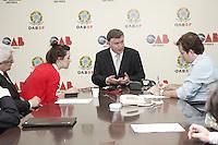 SAO PAULO,SP, 02 JANEIRO 2013 - POSSE NOVO PRESIDENTE DA OAB SP - Marcos da Costa,  o novo presidente da OAB SP para o trienio 2013/2015, durante coletiva de imprensa - Costa tomou posse na tarde dessa quarta-feira, 02, na ocasiao também foi empossada a nova Diretoria e o Conselho Seccional, alem  da Diretoria da Caixa de Assitencia dos Advogados de Sao Paulo(Caasp), na sede da OAB, zona central da capital - FOTO: LOLA OLIVEIRA/BRAZIL PHOTO PRESS
