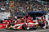 2017 Verizon IndyCar Series - Firestone Grand Prix of St. Petersburg<br /> St. Petersburg, FL USA<br /> Sunday 12 March 2017<br /> Marco Andretti pit stop<br /> World Copyright:Sam Cobb/LAT Images<br /> ref: Digital Image cobb-stpete-170312-4451