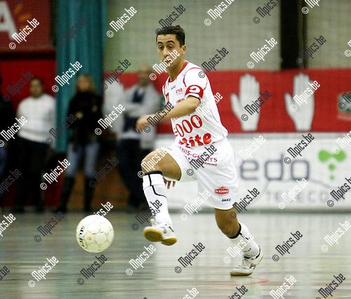 2008-10-24 / Futsal / Antwerpen - Charleroi / Ilyas El Haoual..Foto: Maarten Straetemans (SMB)