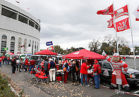 Fans tailgate before the start of an NCAA college football game between The Ohio State Buckeyes and the Rutgers Scarlet Knights at Ohio Stadium on Saturday, October 18, 2014.  (Columbus Dispatch photo by Fred Squillante)