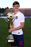 Callum Connolly of Everton and England U21's celebrates winning the 2018 Trophy during Mexico Under-21 vs England Under-21, Tournoi Maurice Revello Final Football at Stade Francis Turcan on 9th June 2018