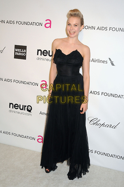 Penelope Mitchell.21st Annual Elton John Academy Awards Viewing Party held at West Hollywood Park, West Hollywood, California, USA..February 24th, 2013.oscars full length black strapless dress waistband .CAP/ADM/BP.©Byron Purvis/AdMedia/Capital Pictures.