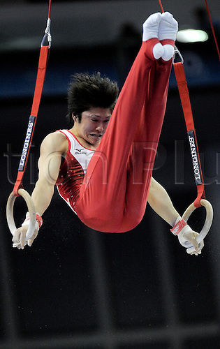 13.10.2009.World Gymnastics Champion ships at the O2 Arena London. Mens Qualifying Competition.Uchimura kohei of Japan in action..Photo Alan Edwards©Photo: Alan Edwards/Actionplus. ..