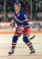 Mark Messier New York Rangers 1993. Photo F. Scott Grant
