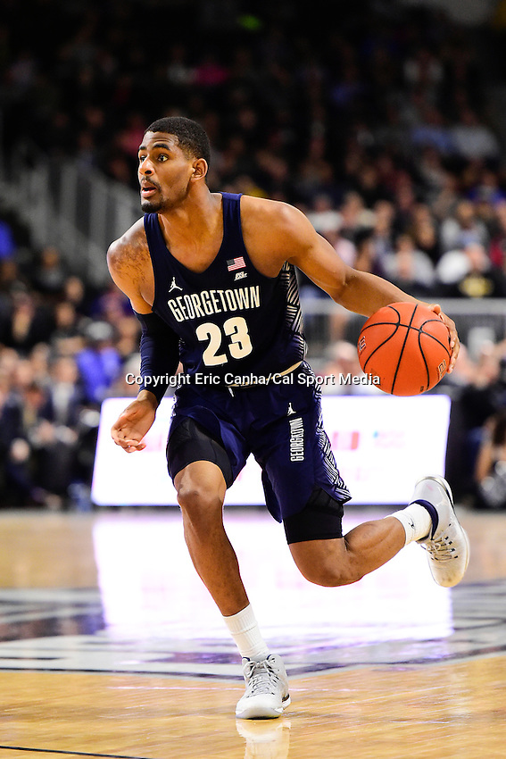 Wednesday, January 4, 2016: Georgetown Hoyas guard Rodney Pryor (23) in game action during the NCAA basketball game between the Georgetown Hoyas and the Providence Friars held at the Dunkin Donuts Center, in Providence, Rhode Island. Providence defeats Georgetown 76-70 in regulation time. Eric Canha/CSM