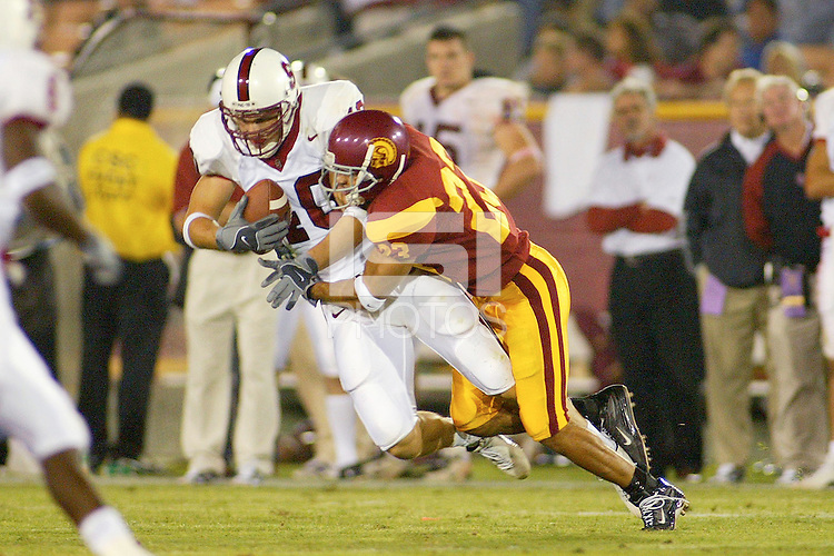 11 October 2003: Action during Stanford's game vs. USC at the Los Angeles Colisseum in Los Angeles, CA.