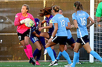 Piscataway, NJ - Wednesday Sept. 07, 2016: Caroline Casey, Kristen Grubka, Sarah Killion during a regular season National Women's Soccer League (NWSL) match between Sky Blue FC and the Orlando Pride FC at Yurcak Field.
