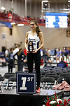 NAPERVILLE, IL - MARCH 11: Alexa Wandy of SUNY Geneseo celebrates after winning the triple jump at the Division III Men's and Women's Indoor Track and Field Championship held at the Res/Rec Center on the North Central College campus on March 11, 2017 in Naperville, Illinois. (Photo by Steve Woltmann/NCAA Photos via Getty Images)