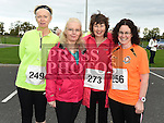 Barbara O'Connell, Marie Boyle, Siobhan McElearney and Marcella Sherlock who took part in the Meath Coast 10K run. Photo:Colin Bell/pressphotos.ie