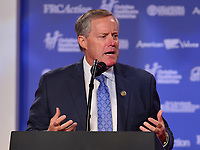 Washington, DC  - October 13, 2017: U.S. Rep. Mark Meadows speaks to conservatives attending the Values Voter Summit hosted by the Family Research Council at the Omni Shoreham Hotel in Washington, D.C., October 13, 2017  (Photo by Don Baxter/Media Images International)