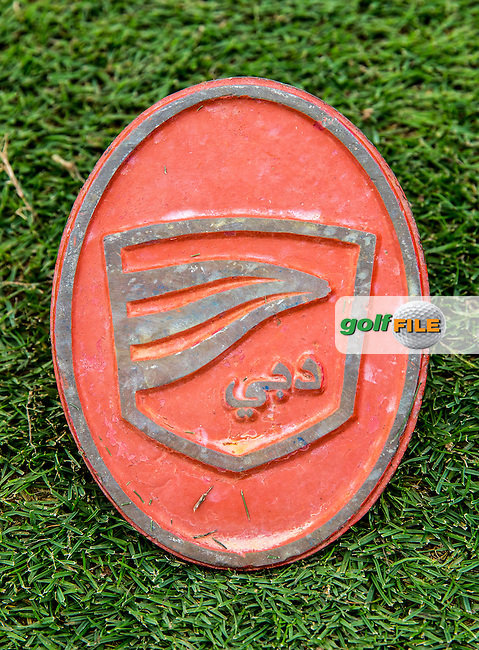 Tee marker at The Els Club , Dubai, United Arab Emirates.  28/01/2016. Picture: Golffile | David Lloyd<br /> <br /> All photos usage must carry mandatory copyright credit (&copy; Golffile | David Lloyd)