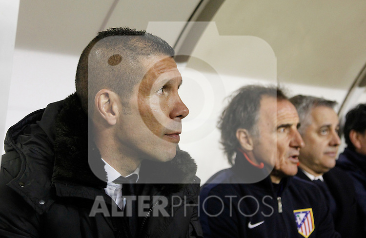 Madrid 15/04/2012.- Campo de Futbol de Vallecas.Liga BBVA..Rayo Vallecano - Atletico de Madrid.Diego Simeone...©Alex Cid-Fuentes/ALFAQUI FOTOGRAFIA.........