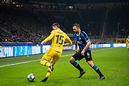 MILAN, ITALY - DECEMBER 10: Clément Lenglet of FC Barcelona and Stefan de Vrij of Inter during the UEFA Champions League group F match between Inter and FC Barcelona at Giuseppe Meazza Stadium on December 10, 2019 in Milan, Italy. (Photo by David Lidström Hultén/LPNA) ***BETALBILD***