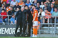Blackpool's James Husband receives treatment for a bloody nose<br /> <br /> Photographer Alex Dodd/CameraSport<br /> <br /> The EFL Sky Bet League One - Blackpool v MK Dons  - Saturday September 14th 2019 - Bloomfield Road - Blackpool<br /> <br /> World Copyright © 2019 CameraSport. All rights reserved. 43 Linden Ave. Countesthorpe. Leicester. England. LE8 5PG - Tel: +44 (0) 116 277 4147 - admin@camerasport.com - www.camerasport.com