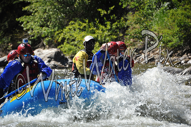 Timberline Tours crashing Dowd Chute Rapid while running the Upper Eagle River from Minturn to Avon on the morning of June 20, 2014.