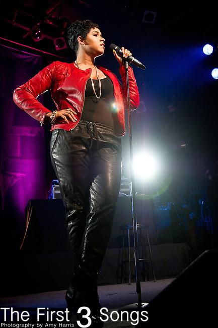 RaVaughn performs during the Yahoo! On The Road at Bogart's in Cincinnati, Ohio.