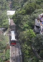 General views of the Peak Tram from The Peak of Hong Kong on 5.4.19.