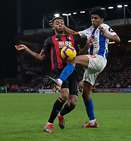 Brighton & Hove Albion's Bernardo (right) battles with Bournemouth's Joshua King (left) <br /> <br /> Photographer David Horton/CameraSport<br /> <br /> The Premier League - Bournemouth v Brighton and Hove Albion - Saturday 22nd December 2018 - Vitality Stadium - Bournemouth<br /> <br /> World Copyright © 2018 CameraSport. All rights reserved. 43 Linden Ave. Countesthorpe. Leicester. England. LE8 5PG - Tel: +44 (0) 116 277 4147 - admin@camerasport.com - www.camerasport.com