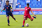Sami Mohamed Alhusaini of Bahrain (R) in action during the AFC Asian Cup UAE 2019 Group A match between Bahrain (BHR) and Thailand (THA) at Al Maktoum Stadium on 10 January 2019 in Dubai, United Arab Emirates. Photo by Marcio Rodrigo Machado / Power Sport Images