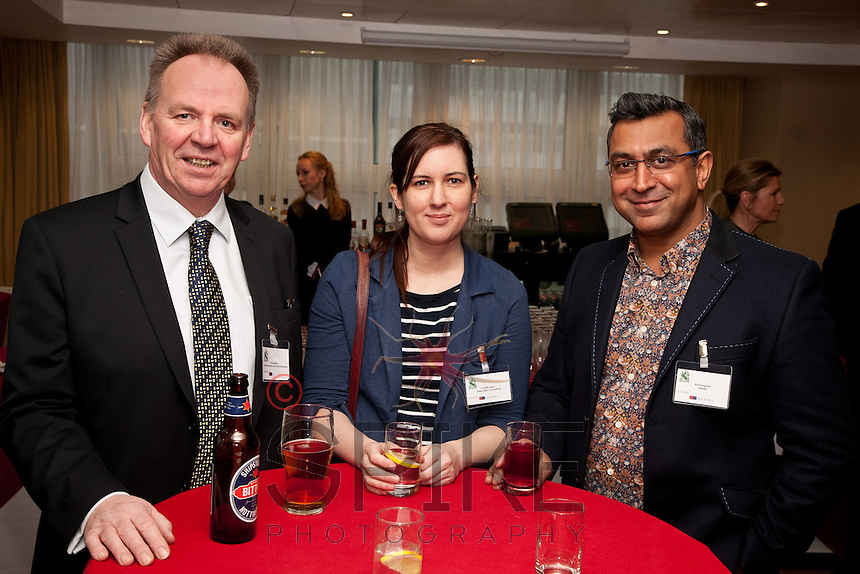 Pictured from left are Paul Ritchie of Foremost Security, Camilla Zajac of Green Light Copywriting and Ash Gangotra of Fashtex