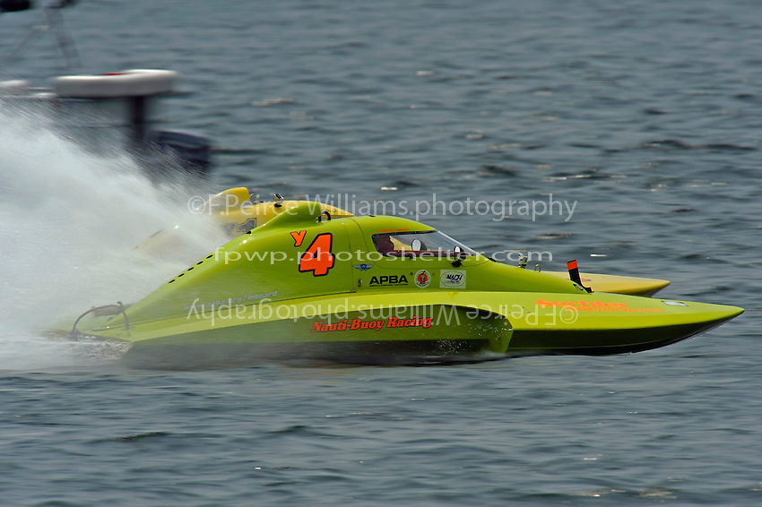 "Marty Hammersmith, Y-4 ""Nauti-Buoy Racing"" and Dan Kanfoush, Y-1 ""Fast Eddie Too""  (1 Litre MOD hydroplane(s)"