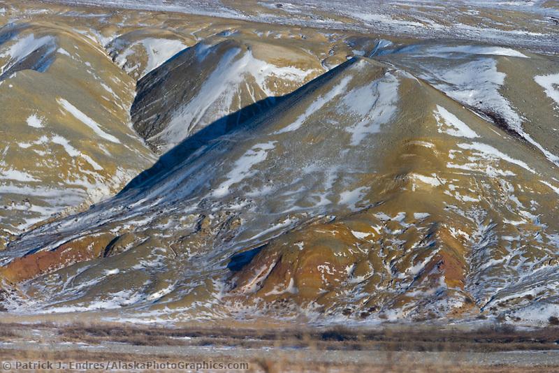 Colorful Franklin Bluffs, arctic, Alaska.