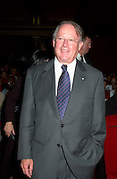 August 2001 File Photo of<br /> Quebec Premier Bernard Landry attending a projection  at the 25th World Film Festival, August 26, 2001 in Montreal, CANADA.<br /> <br /> <br /> <br /> <br /> Photo by Pierre Roussel / Getty Images News Service<br /> <br /> NOTE : raw jpeg from Nikon D 1, openened with QUIMAGE ICC profile