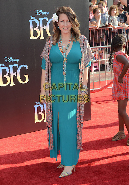 21 June 2016 - Hollywood. Joely Fisher. Arrivals for the Premiere Of Disney's &quot;The BFG&quot; held at El Capitan Theater. <br /> CAP/ADM/BT<br /> &copy;BT/ADM/Capital Pictures