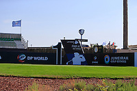 The 1st tee during the preview for the DP World Tour Championship at the Earth course,  Jumeirah Golf Estates in Dubai, UAE,  18/11/2015.<br /> Picture: Golffile | Thos Caffrey<br /> <br /> All photo usage must carry mandatory copyright credit (© Golffile | Thos Caffrey)