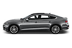 Car driver side profile view of a 2018 Audi S5 Sportback Base 5 Door Hatchback