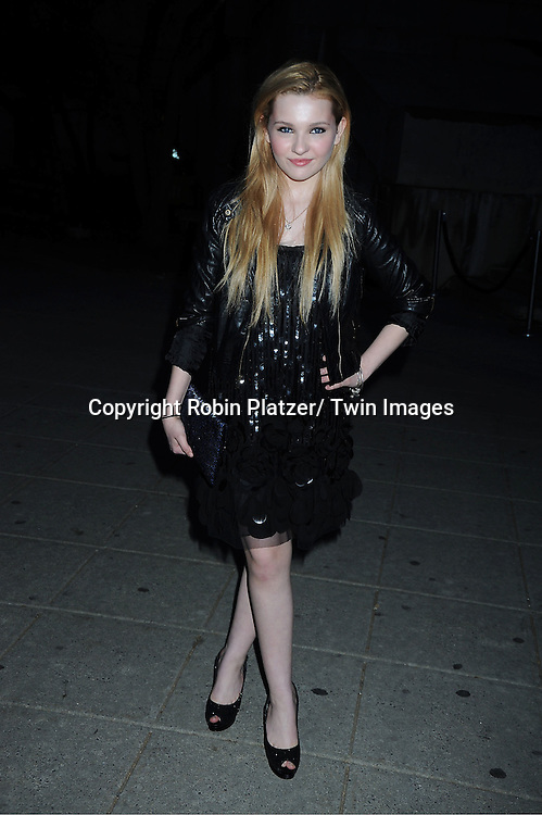 Abigail Breslin in black Anna Sui dress attending at The Vanity Fair Tribeca Film Festival Party on .April 27, 2011 at The State Supreme Courthouse in New York City.