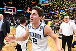 SAN ANTONIO, TX - APRIL 02: Collin Gillespie #2 of the Villanova Wildcats celebrates after the 2018 NCAA Men's Final Four National Championship game against the Michigan Wolverines at the Alamodome on April 2, 2018 in San Antonio, Texas.  (Photo by Brett Wilhelm/NCAA Photos via Getty Images)