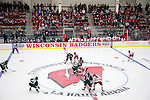 A general view of LaBahn Arena during a faceoff of the Wisconsin Badgers opening night against the Bemidji State Beavers at the LaBahn Arena Friday, October 19, 2012 in Madison, Wis. (Photo by David Stluka)