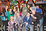 30th: Partying the night away at his 30th birthday party in The Huddle Bar, Strand St, Tralee, on Saturday was Stephen Moran of Cluainard, along with family and friends..