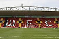 General view of Leslie Gosden Stand ahead of Woking vs Watford, Emirates FA Cup Football at The Laithwaite Community Stadium on 6th January 2019