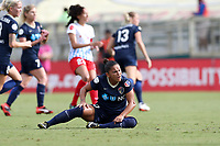 Cary, NC - Sunday October 08, 2017: Debinha left the game after suffering a dislocated elbow during a National Women's Soccer League (NWSL) semifinals match between the North Carolina Courage and the Chicago Red Stars at Sahlen's Stadium at WakeMed Soccer Park.