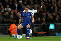 Moussa Sissoko of Tottenham Hotspur and Ross Barkley of Chelsea during Tottenham Hotspur vs Chelsea, Caraboa Cup Football at Wembley Stadium on 8th January 2019