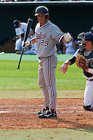 HOUSTON, TEXAS - Feb. 19, 2011: Ben Clowe of Stanford prepares to bat. Rice defeated Stanford 7-1.
