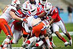 Illinois Fighting Illini quarterback Reilly O'Toole (4) in action during the Heart of Dallas Bowl Bowl game between the Illinois Fighting Illini and the Louisiana Tech Bulldogs at the Cotton Bowl Stadium in Dallas, Texas. Louisiana defeats Illinois 35 to 18.