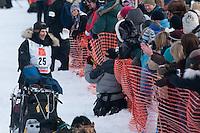 Musher # 25 Hans Gatt at the Restart of the 2009 Iditarod in Willow Alaska