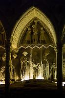 Tomb, Sepulcre of Bishop Martine Fernandez, in Cathedral de Santa Maria de Leon, Castilla y Leon, Spain