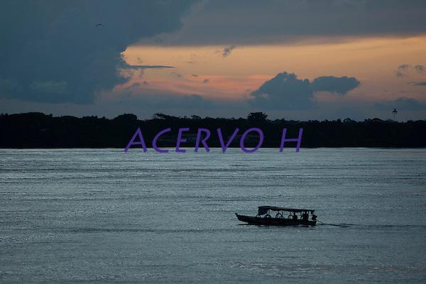 Rio Paracauar&iacute; em Soure  no arquip&eacute;lago do Maraj&oacute;.<br /> Soure, Par&aacute;, Brasil.<br /> Foto Paulo Santos<br /> 22/04/2014
