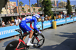 Antoine Duchesne (CAN) Groupama-FDJ during Stage 1 of the La Vuelta 2018, an individual time trial of 8km running around Malaga city centre, Spain. 25th August 2018.<br /> Picture: Ann Clarke | Cyclefile<br /> <br /> <br /> All photos usage must carry mandatory copyright credit (© Cyclefile | Ann Clarke)