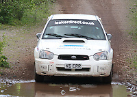Alick Kerr / Claire Mole at the watersplash on Special Stage 5 Heathhall of the 2012 RSAC Scottish Rally supported by Dumfries and Galloway Council, Round 5 of the RAC MSA Scottish Rally Championship which was based in Dumfries on 30.6.12.