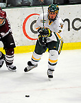 23 January 2009: University of Vermont Catamount defenseman Drew MacKenzie, a Freshman from New Canaan, CT, in action against the University of Massachusetts Minutemen during the first game of a weekend series at Gutterson Fieldhouse in Burlington, Vermont. The Catamounts defeated the visiting Minutemen 2-1. Mandatory Photo Credit: Ed Wolfstein Photo