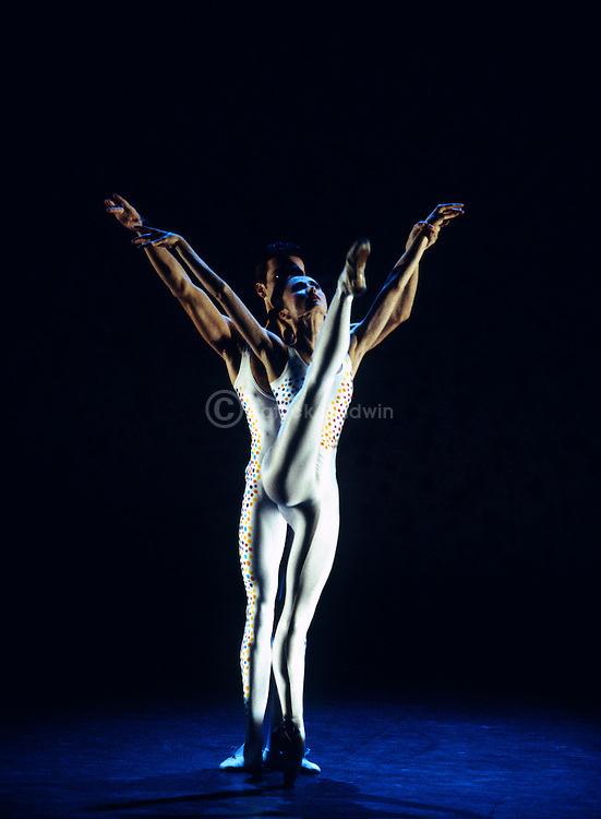 English National Ballet performing Voluntaries choreographed by Glen Tetley. Nathan Coppen, Daria Klimentova.
